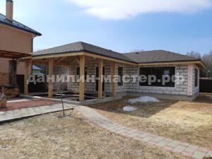 Строительство гостевого дома из блоков в КП Тихий берег, Истринский р-н